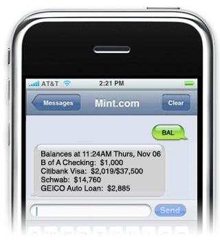 Geek Tip: Text Mint to Get Your Bank Account Balance