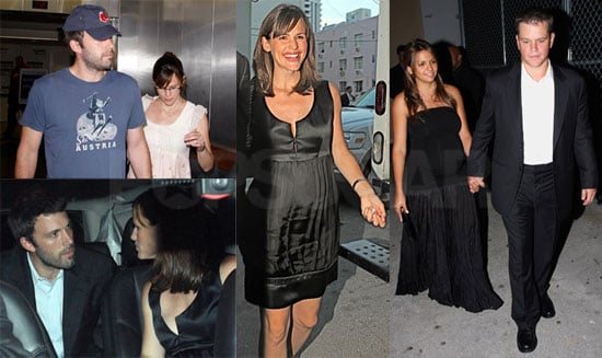 Photos of Pregnant Jennifer Garner and Luciana Damon with Matt Damon and Ben Affleck at the Obama Fundraiser