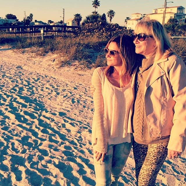 """Ashley Tisdale posted a picture with her mom, Lisa, at the beach. """"Happy Mothers Day to the most supportive and loving mom, I am so thankful for you. You do so much for our family and it doesn't go unnoticed. Love you mommy,"""" she wrote.  Source: Instagram user ashleytisdale"""