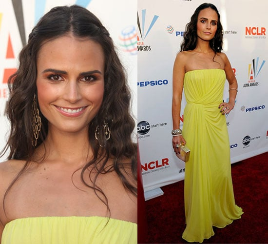 Photo of Jordana Brewster in Yellow Dress at 2009 ALMA Awards