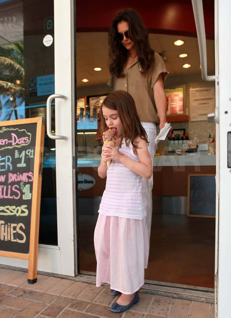 Katie Holmes and Suri Pick Up a Sweet Treat Following Their Pool Day