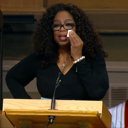 Oprah and Michelle Obama at Maya Angelou's Memorial | Video