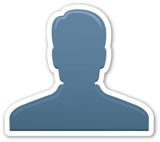 """Interpretation: """"I'm going to say something incriminating but you can't ever tell people it was me.""""  Name + meaning: Bust in Silhouette. Generic profile of one person — often used in interface design to represent a user. Also known as: User emoji; silhouette emoji"""