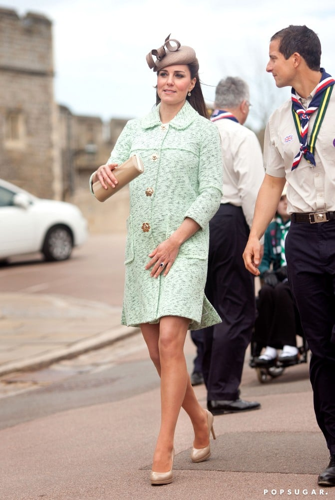 Kate Middleton Brings Her Baby Bump to a Scouting Event
