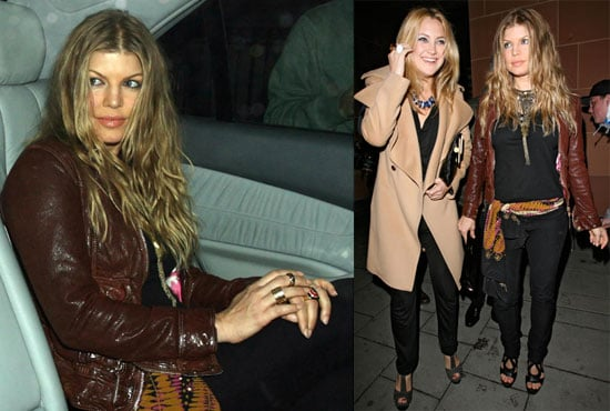 Photos of Kate Hudson and Fergie in London