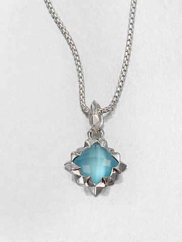 Stephen Webster Blue Cat's-Eye Doublet & Sterling Silver Pendant Necklace