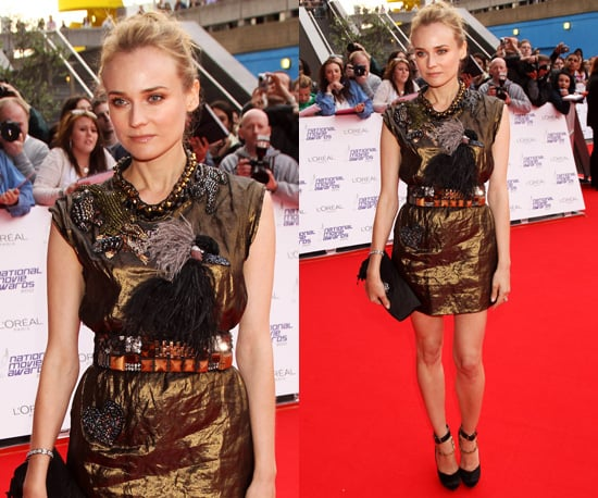 Photos of Diane Kruger at the 2010 National Movie Awards in Lanvin