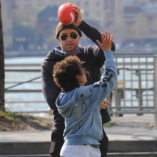 Hugh Jackman and His Family Playing in NYC Pictures