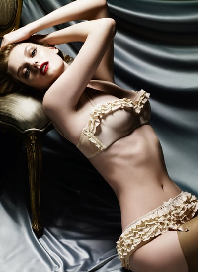 Photo of Model Lydia Hearst as New Face and Body of Myla Lingerie Underwear