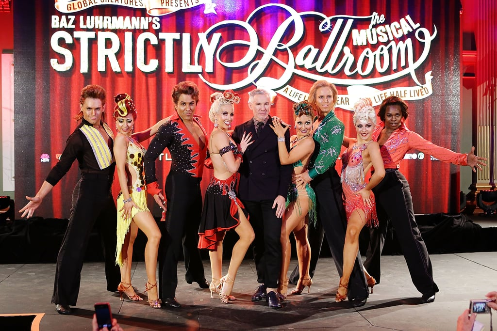 Baz Luhrmann got amongst it at the Strictly Ballroom: The Musical press call in Sydney on August 5.