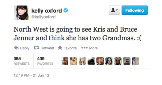 Kelly Oxford just can't resist. . .