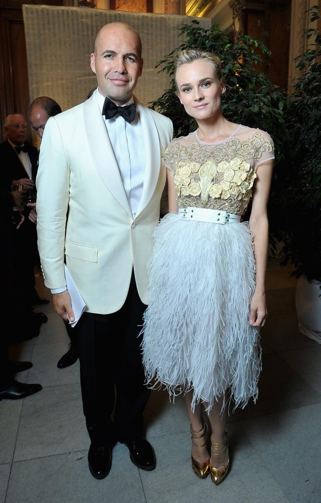 Diane Kruger and Billy Zane posed together inside the event.