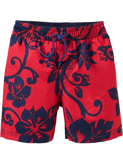For Babies and Little Boys: Old Navy Hibiscus Print Swim Trunks
