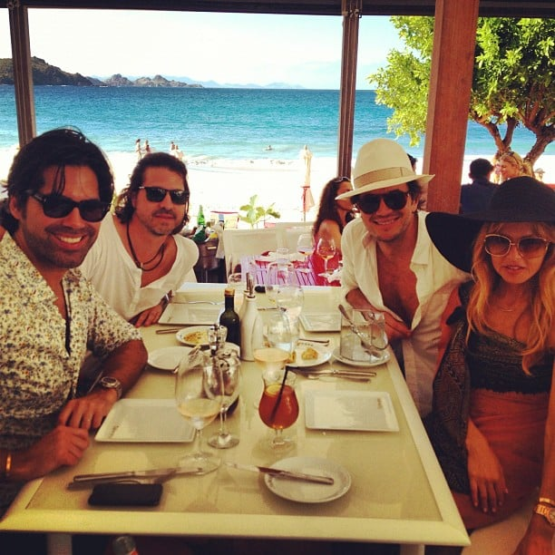 Rachel Zoe spent Christmas in St. Barts with her family and friend Brian Atwood. Source: Instagram user rachelzoe
