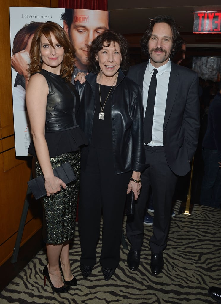 Tina Fey, Lily Tomlin, and Paul Rudd smiled at the Admission premiere.