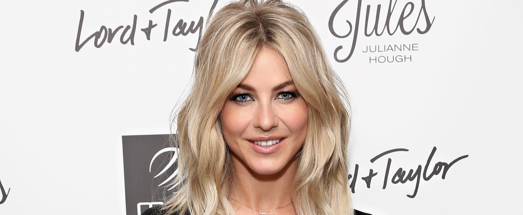 Julianne Hough Flashes Her Washboard Abs While Promoting Her New Activewear Line