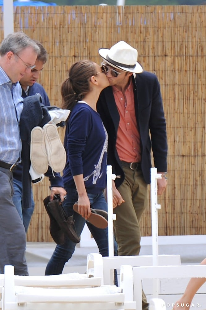 Ashton Kutcher and Mila Kunis shared a kiss during a June vacation in the South of France.
