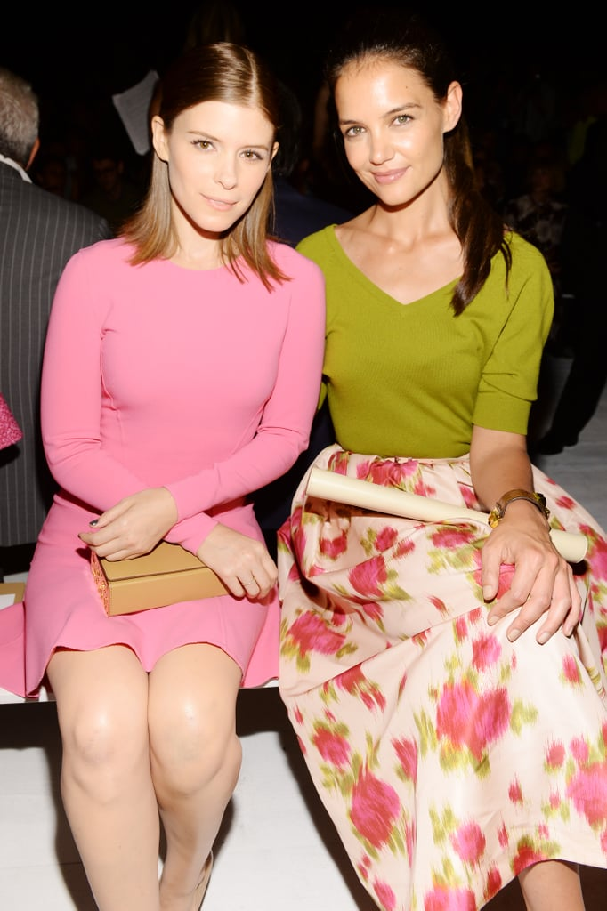 Katie Holmes and Kate Mara sat front row at the Michael Kors show.