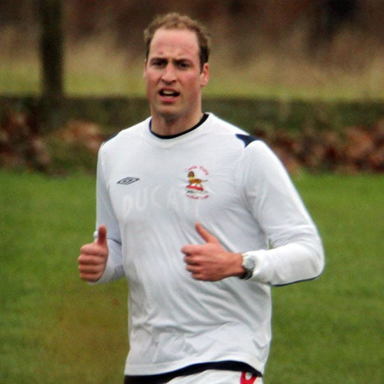 Prince William Playing Soccer on Christmas Eve Pictures
