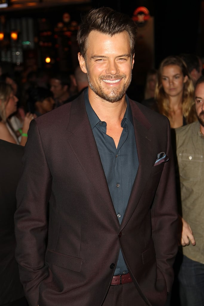 Josh laughed while walking the red carpet at the August 2013 premiere of Scenic Route in LA.