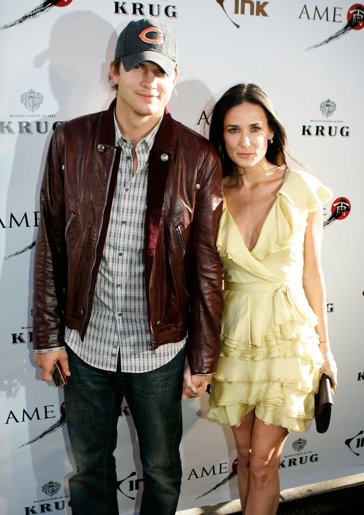 Ashton Kutcher accompanied Demi Moore to the Joneses screening and after party in 2009.