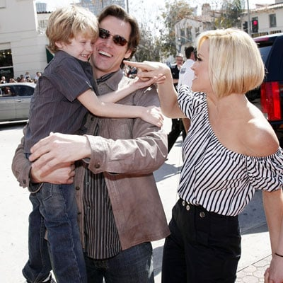 Jim Carrey, Jenny McCarthy and Evan Asher at the Premiere of Horton Hears a Who