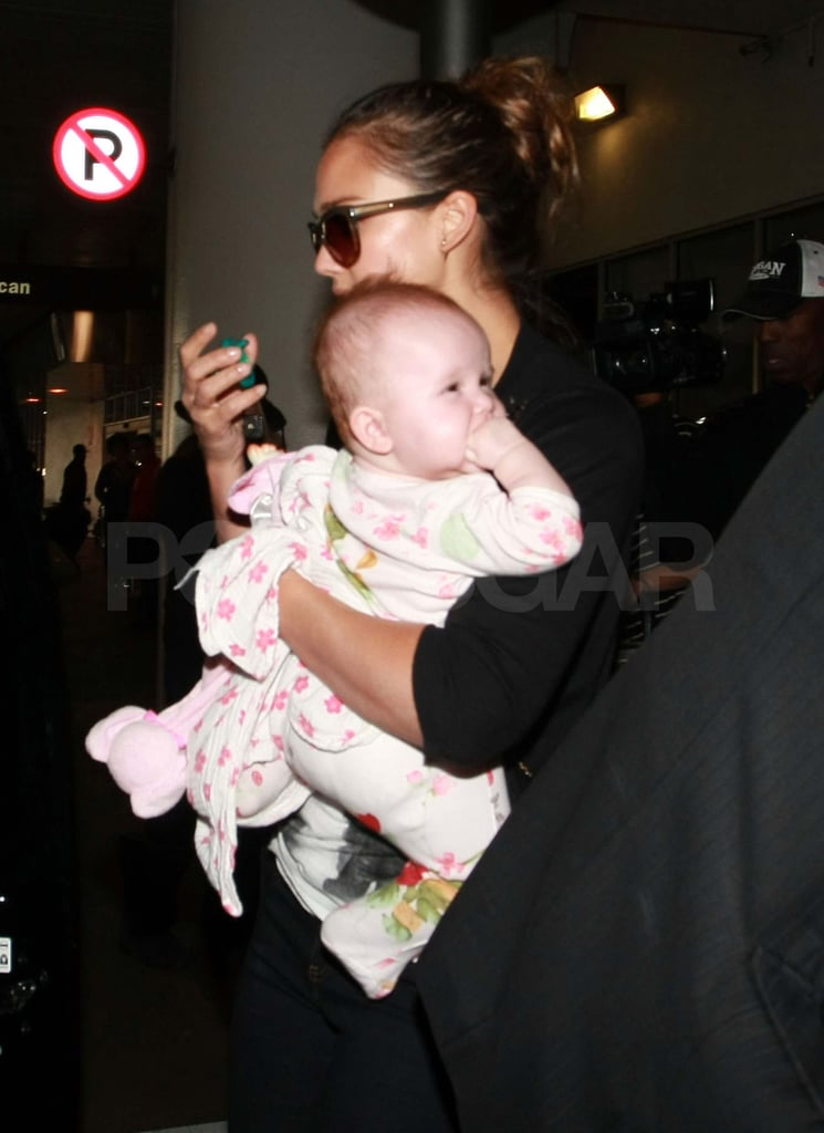 Jessica Alba and Haven at LAX.