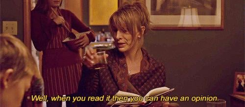 You will kick someone out of book club if they don't read the book.