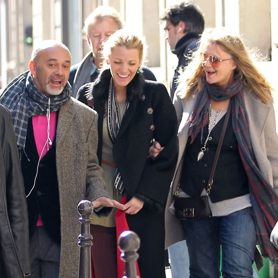 Pictures of Blake Lively Shopping at Chanel in Paris With Her Parents and Christian Louboutin