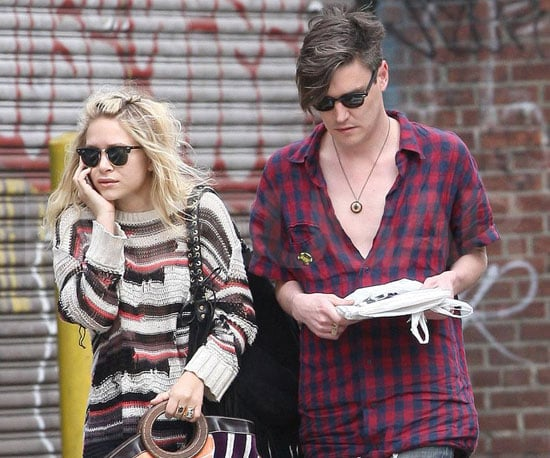 Photo of Mary Kate Olsen and Nate Lowman Getting Breakfast in NYC