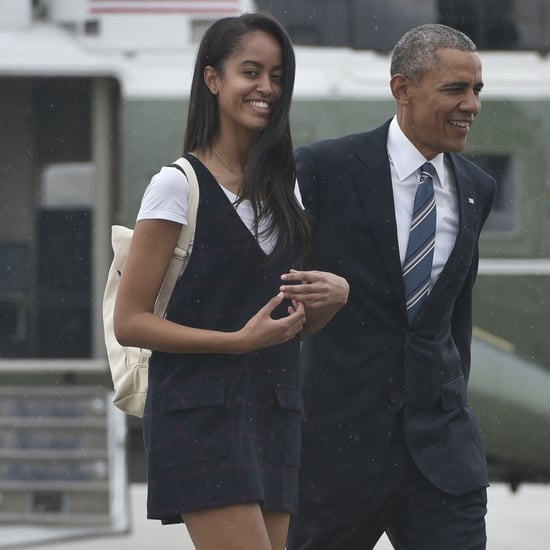 Malia Obama in Plaid Dress and Ankle Boots | April 2016