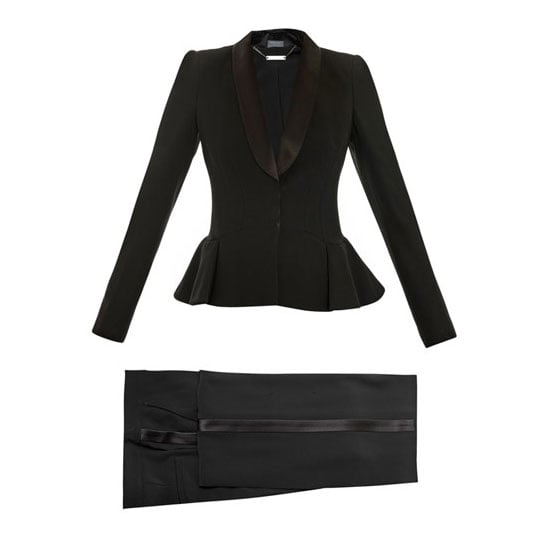 Tuxedo suit, approx $3,401, Alexander McQueen at Matches Fashion