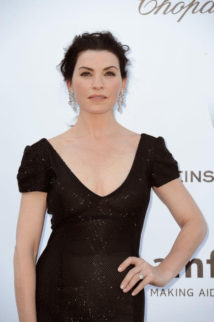 Julianna Margulies wore black at amfAR Cinema Against AIDS gala.