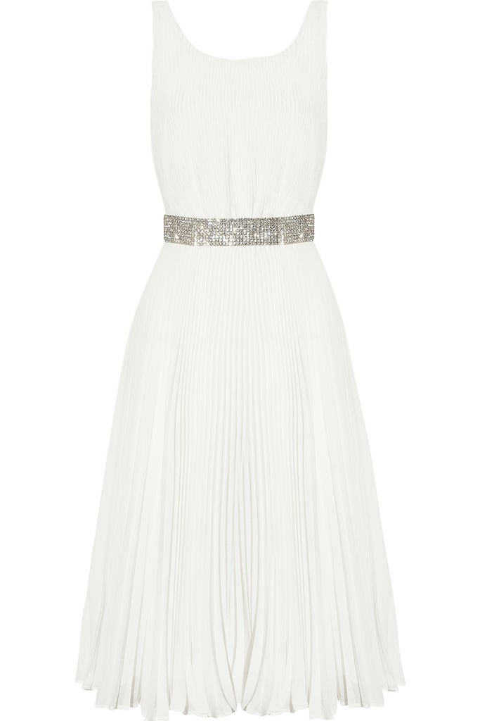 This femme frock would be a perfect fit for the low-key but ever-so-glam bride.  Alice + Olivia Cora Plissé Georgette Dress ($395)
