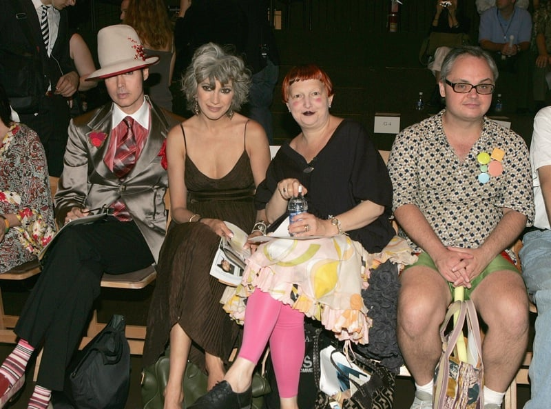 Front Row At Gary Graham Spring 06 Show With Writer Patrick McDonald, Lauren Ezersky, And Mickey Boardman, Editor of Paper Magaz