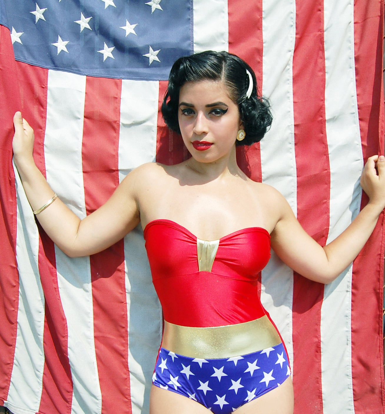 A custom-made Wonder Woman swimsuit ($95) and your Comic-Con costume, all in one.