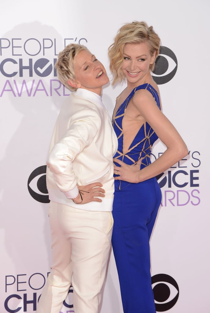 Ellen and Portia hammed it up for the cameras at the January 2015 People's Choice Awards in LA.