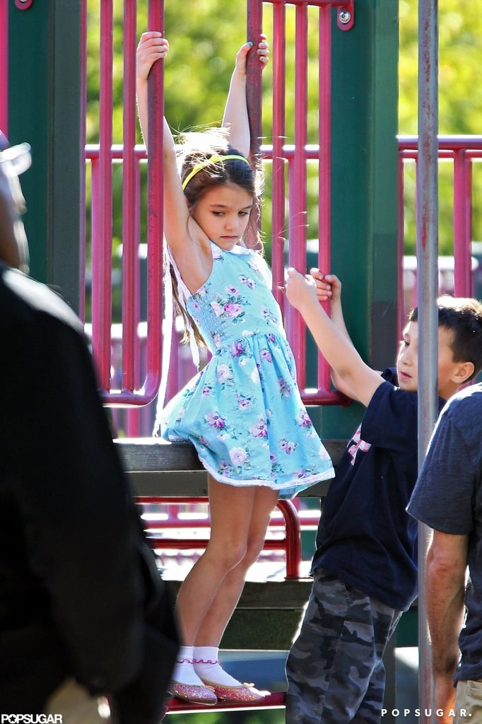 Suri Cruise went to a playground in Brooklyn with mom Katie Holmes.