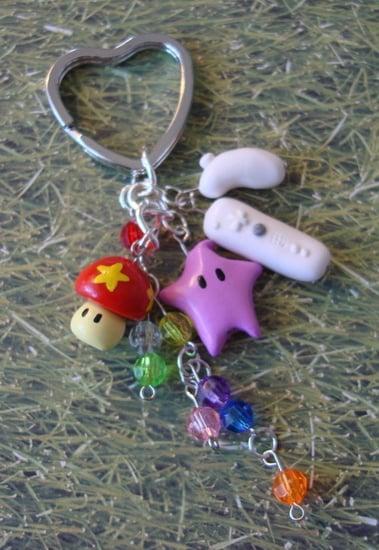 Super Mario Galaxy Keychain and Charm Bracelet