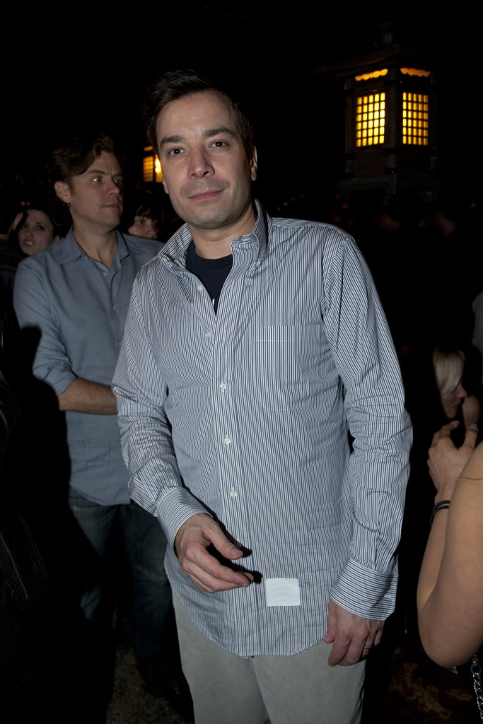 Jimmy Fallon attended the NYFW Guns N' Roses show.