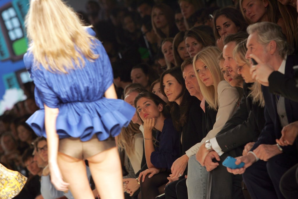 At home with the A-list set, Charlotte took in a Stella McCartney show from the front row along with Paul McCartney and Gwyneth Paltrow in 2009.