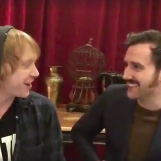Matthew Lewis and Rupert Grint in Harry Potter Video