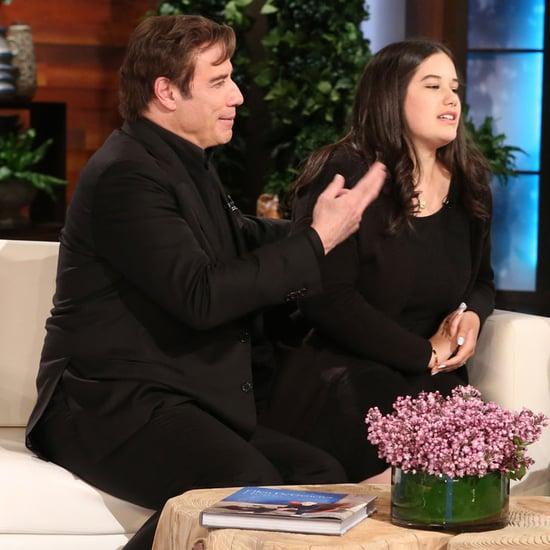 John Travolta and Daughter Ella on The Ellen Show 2016