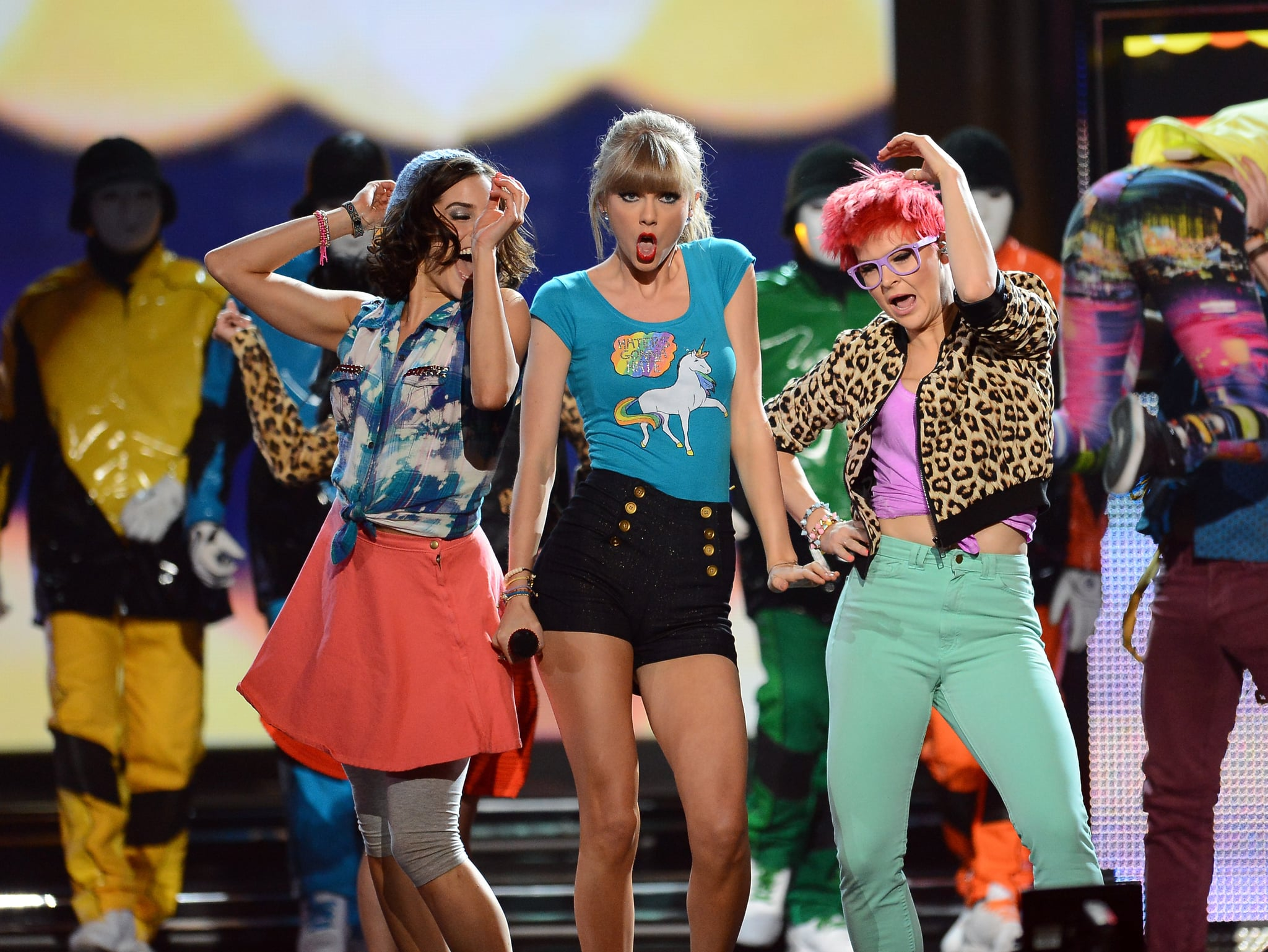 """Taylor Swift performs """"22"""" at the Billboard Music Awards."""