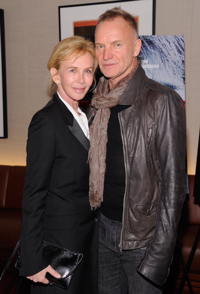 Trudie Styler and Sting attended the NYC premiere of Argo.