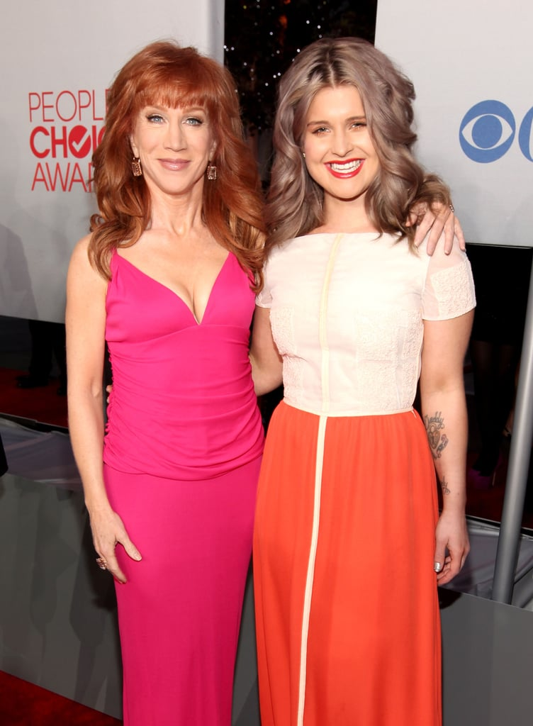 Kathy Griffin and Kelly Osbourne at the 2012 People's Choice Awards.