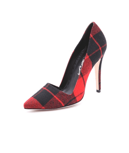 Throw a seasonal punch into your simplest outfits with these tartan Alice + Olivia heels ($259, originally $345).