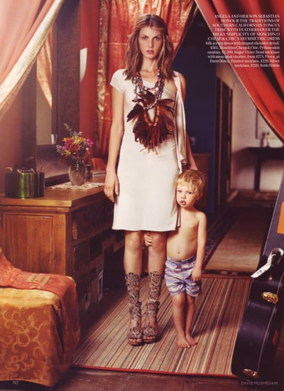 Angela Lindvall Opens Her Home to British Vogue