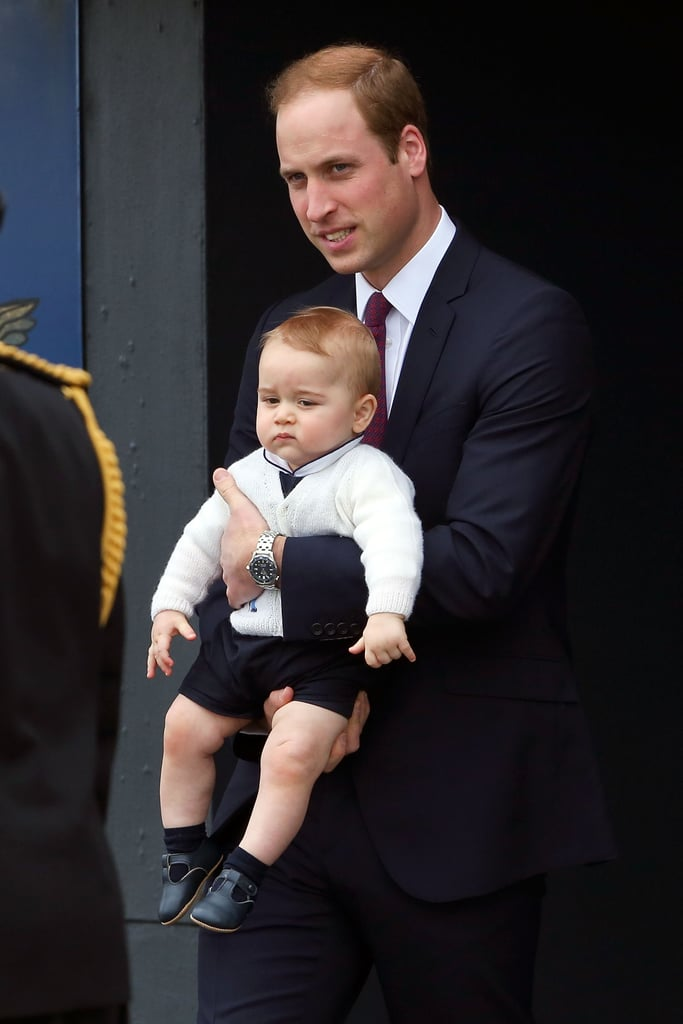 George's departure from New Zealand on April 16.