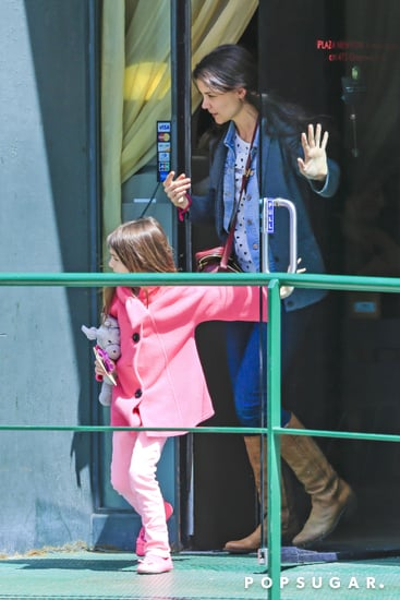 Katie Holmes and Suri Have a Belated Birthday Spa Outing
